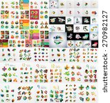 super mega set of abstract... | Shutterstock .eps vector #270982127