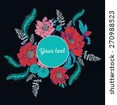 beautiful flower background art ... | Shutterstock .eps vector #270988523