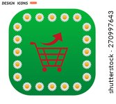 green button with white daisies ...