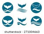 whale tail monochrome logo set. ... | Shutterstock . vector #271004663