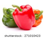 Sweet Bell Pepper Isolated On...