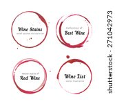 vector set of isolated red wine ... | Shutterstock .eps vector #271042973