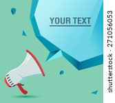 megaphone voice advertise text... | Shutterstock .eps vector #271056053