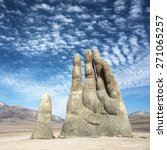 Sculpture Of A Hand Located In...