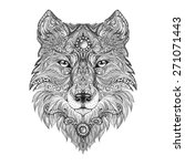 Tattoo Head Wolf Wild Beast Of...