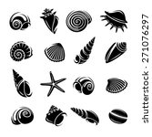 seashells set. vector | Shutterstock .eps vector #271076297