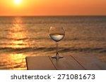 Romantic Glass Of Wine Sitting...