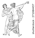 dance  vintage engraved... | Shutterstock .eps vector #271084457