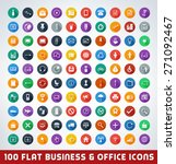 mega business and office flat... | Shutterstock .eps vector #271092467