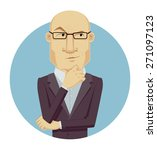 thinking man. cartoon vector... | Shutterstock .eps vector #271097123