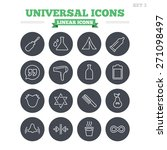 universal linear icons set.... | Shutterstock .eps vector #271098497