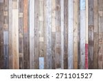 background of reclaimed timber... | Shutterstock . vector #271101527