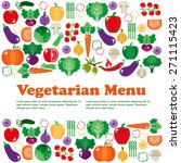 bright vegetable set in flat... | Shutterstock .eps vector #271115423