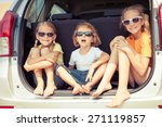 happy brother and his two... | Shutterstock . vector #271119857