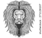 vector stylish handdrawn lion... | Shutterstock .eps vector #271128107