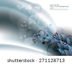 silver background with bright... | Shutterstock .eps vector #271128713