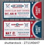 set of vintage baseball tickets | Shutterstock .eps vector #271140647