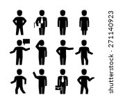 vector human body action poses... | Shutterstock .eps vector #271140923
