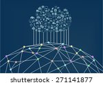 cloud computing connected to... | Shutterstock .eps vector #271141877