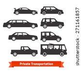 private transportation. set of... | Shutterstock .eps vector #271161857