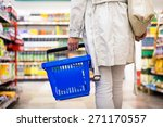 pretty young woman buying... | Shutterstock . vector #271170557