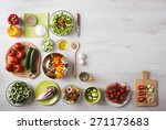 healthy eating concept with... | Shutterstock . vector #271173683
