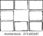 abstract grunge frame set | Shutterstock .eps vector #271183187