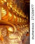 golden hand buddha statue   Shutterstock . vector #271206977