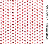 seamless pattern of hearts... | Shutterstock . vector #271207127