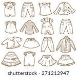 clothes collection  vector...