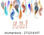 hand drawn colorful watercolor... | Shutterstock .eps vector #271214147