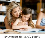 little girls with their mother... | Shutterstock . vector #271214843