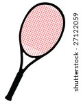 tennis racket with red cords on ... | Shutterstock . vector #27122059