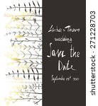 save the date invitation card... | Shutterstock .eps vector #271228703