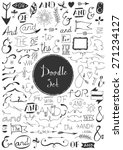 big doodle set   vintage... | Shutterstock .eps vector #271234127