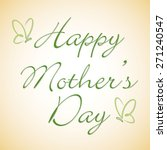 happy mother's day butterfly... | Shutterstock .eps vector #271240547
