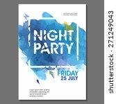 summer night party vector flyer ... | Shutterstock .eps vector #271249043