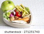 healthy food in heart diet... | Shutterstock . vector #271251743
