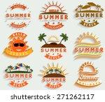 retro summer holidays  labels... | Shutterstock .eps vector #271262117