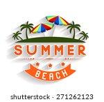 retro summer holidays  labels... | Shutterstock .eps vector #271262123