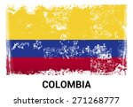 colombia grunge flag isolated... | Shutterstock .eps vector #271268777