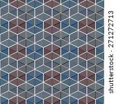 seamless vector geometric ... | Shutterstock .eps vector #271272713