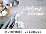 cooking classes background | Shutterstock . vector #271286393