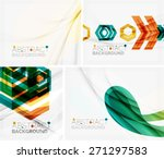 set of abstract geometric... | Shutterstock .eps vector #271297583
