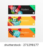 set of banners with stickers ... | Shutterstock .eps vector #271298177