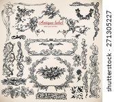 set of calligraphic design... | Shutterstock . vector #271305227