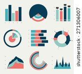flat charts  graphs. vector...