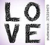 decorative inscription love | Shutterstock .eps vector #271314473