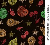 color fruit pattern | Shutterstock .eps vector #271315013