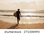 surfer man with sufing board in ...   Shutterstock . vector #271330493